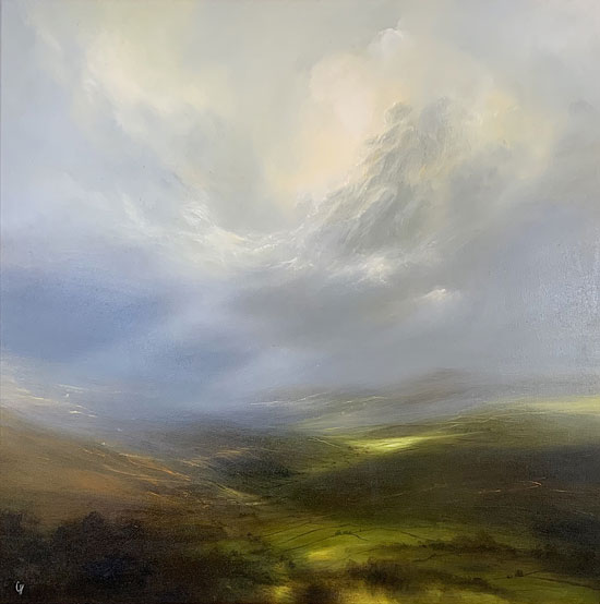 Clare Haley, Original oil painting on panel, Yorkshire Drift Without frame image. Click to enlarge
