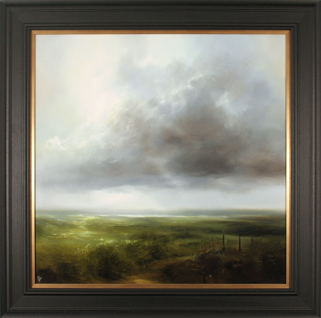 Clare Haley, Original oil painting on panel, Always Head North. Click to enlarge