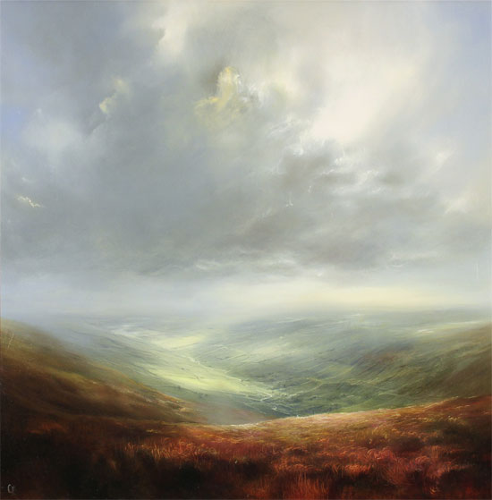 Clare Haley, Original oil painting on panel, Yorkshire Day, All the Way Without frame image. Click to enlarge