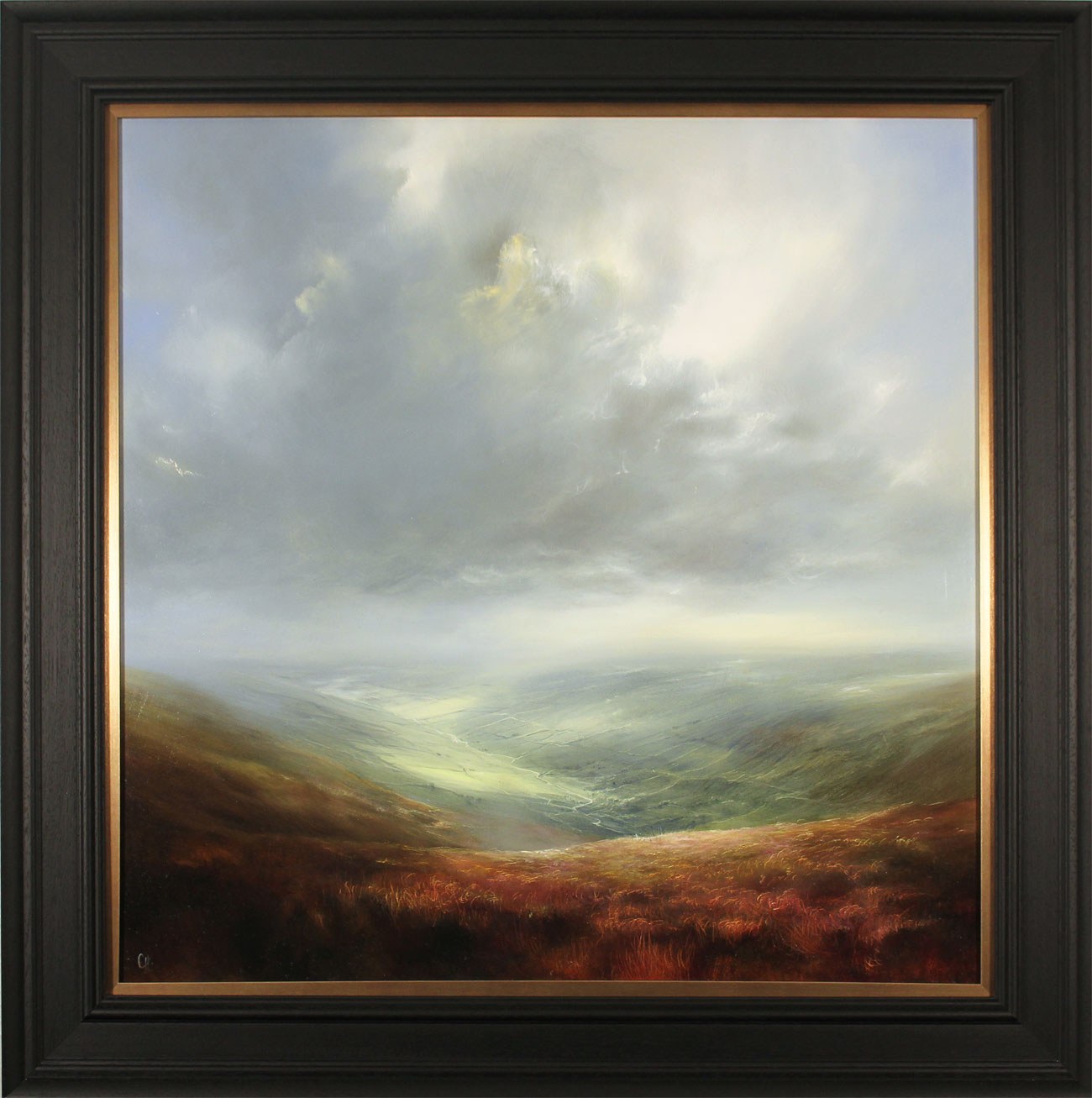 Clare Haley, Original oil painting on panel, Yorkshire Day, All the Way. Click to enlarge