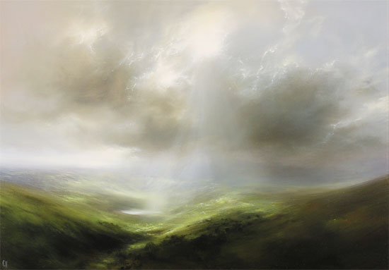 Clare Haley, Original oil painting on panel, Over Dale and Vale Without frame image. Click to enlarge
