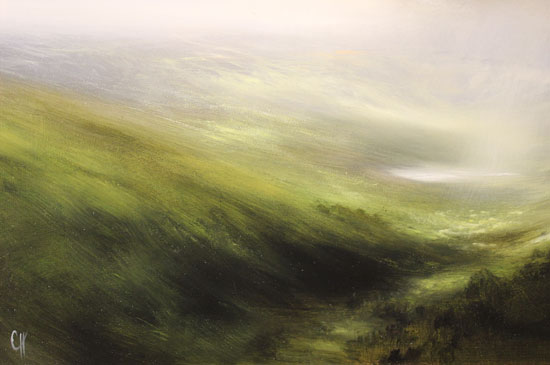 Clare Haley, Original oil painting on panel, Over Dale and Vale Signature image. Click to enlarge