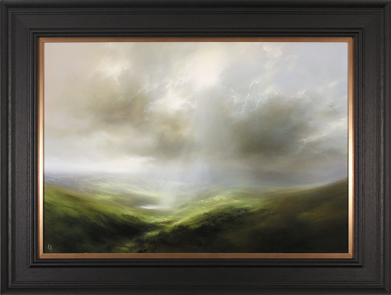 Clare Haley, Original oil painting on panel, Over Dale and Vale. Click to enlarge