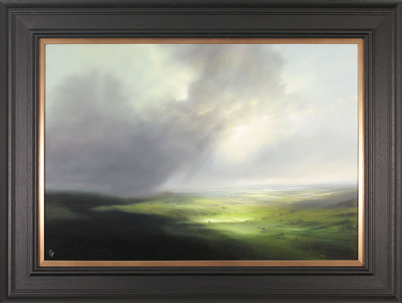 Clare Haley, Original oil painting on panel, Yorkshire, Lost in Shadow, click to enlarge