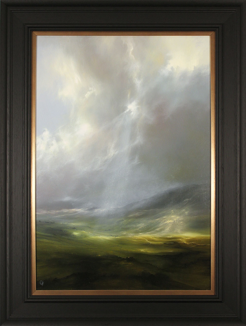Clare Haley, Original oil painting on panel, Light Through Rifted Cloud. Click to enlarge