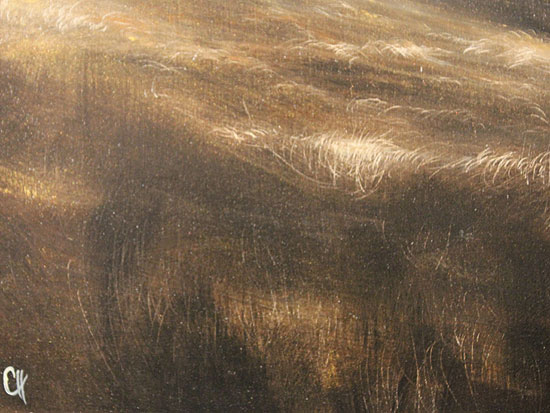 Clare Haley, Original oil painting on panel, North Yorkshire in Umber Tones Signature image. Click to enlarge