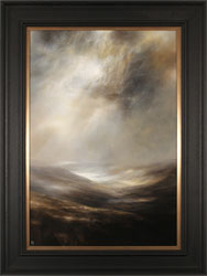 Clare Haley, Original oil painting on panel, North Yorkshire in Umber Tones Large image. Click to enlarge