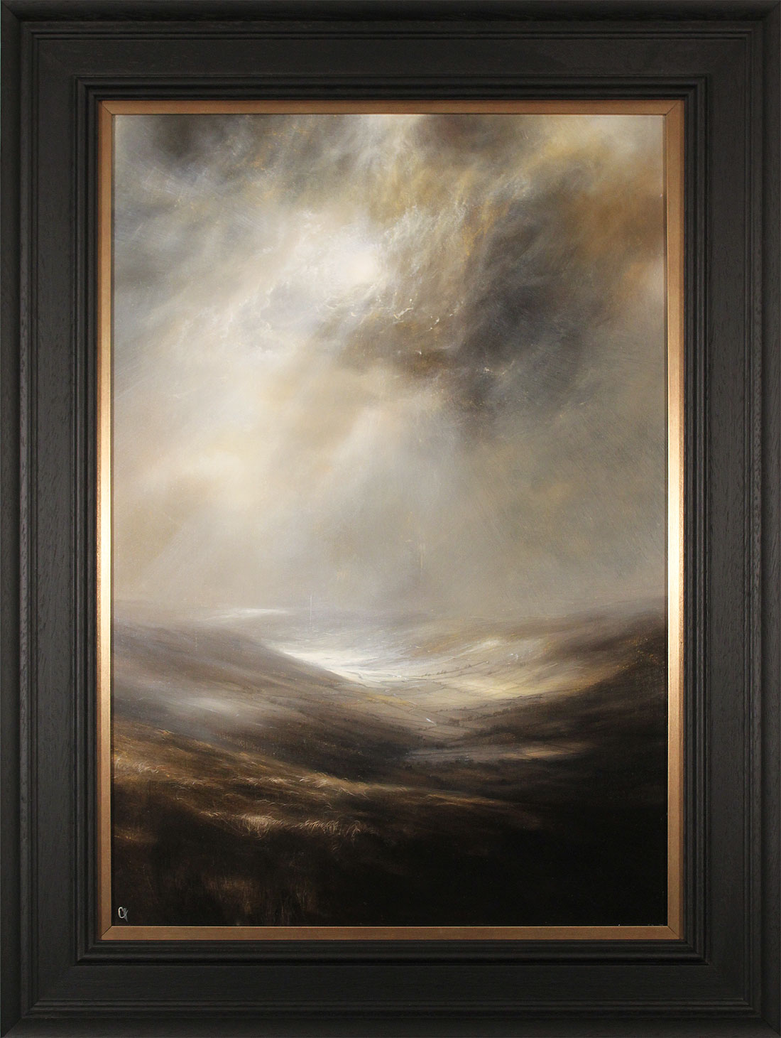 Clare Haley, Original oil painting on panel, North Yorkshire in Umber Tones. Click to enlarge