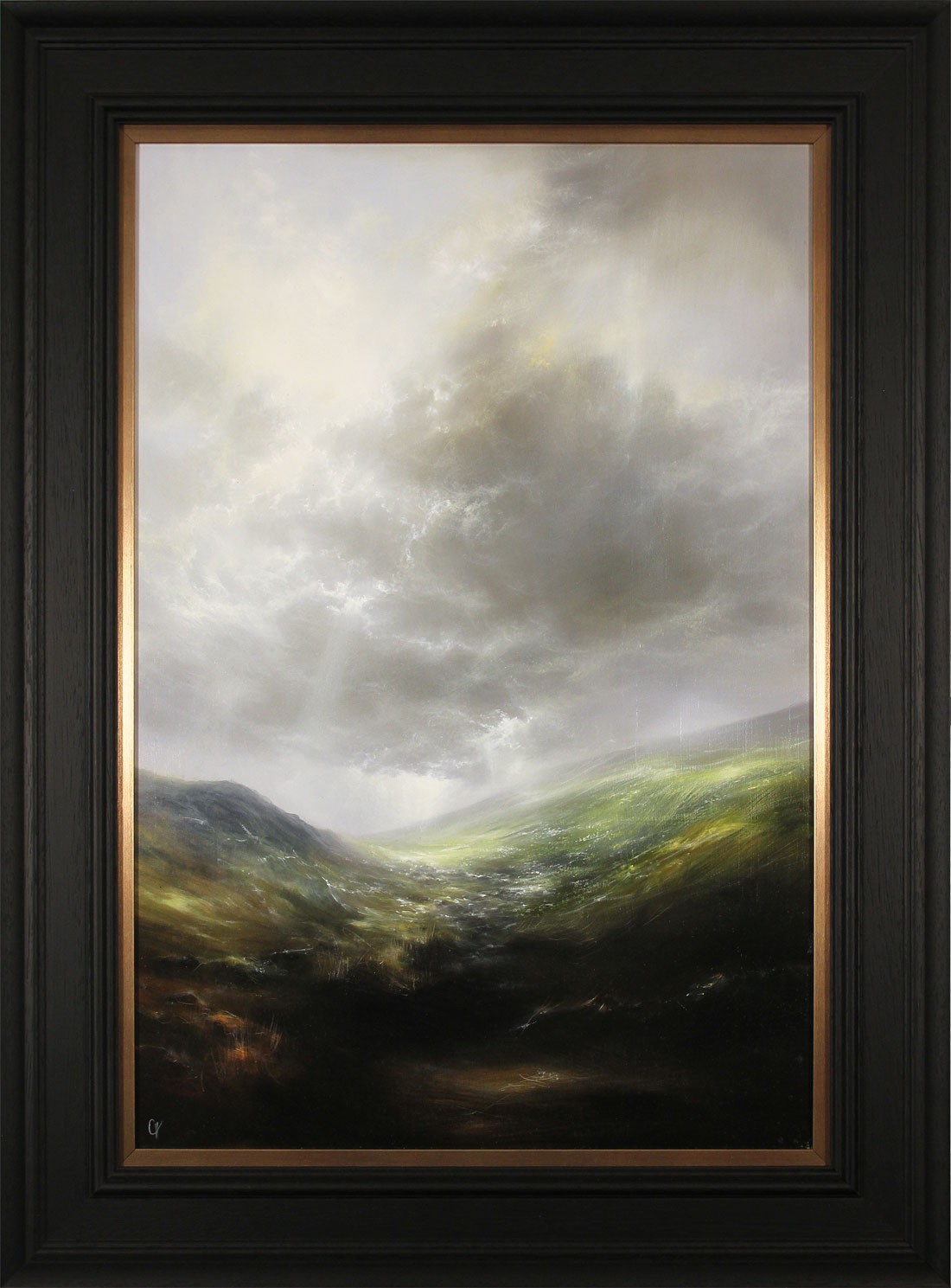 Clare Haley, Original oil painting on panel, Far Up the Rugged Path. Click to enlarge