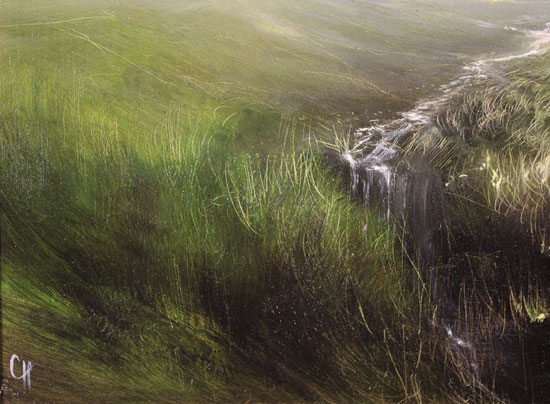 Clare Haley, Original oil painting on panel, Call of the Wild Signature image. Click to enlarge