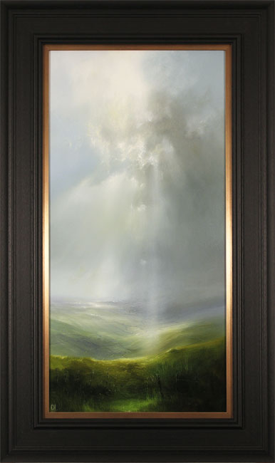Clare Haley, Original oil painting on panel, Tall Skies Over the Valley