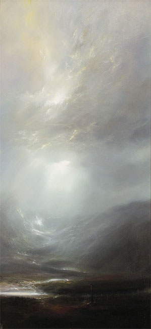 Clare Haley, Original oil painting on panel, Misty Morning Air Without frame image. Click to enlarge