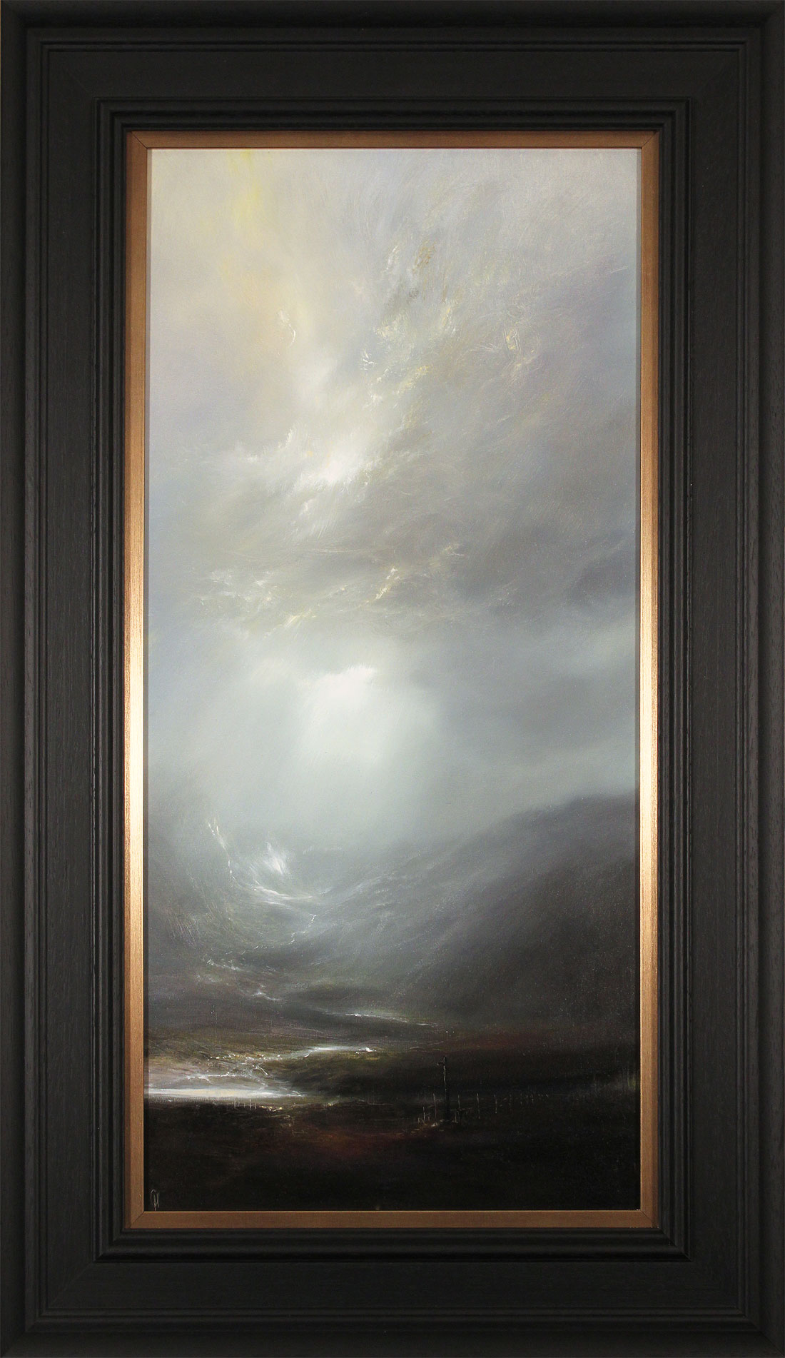 Clare Haley, Original oil painting on panel, Misty Morning Air. Click to enlarge