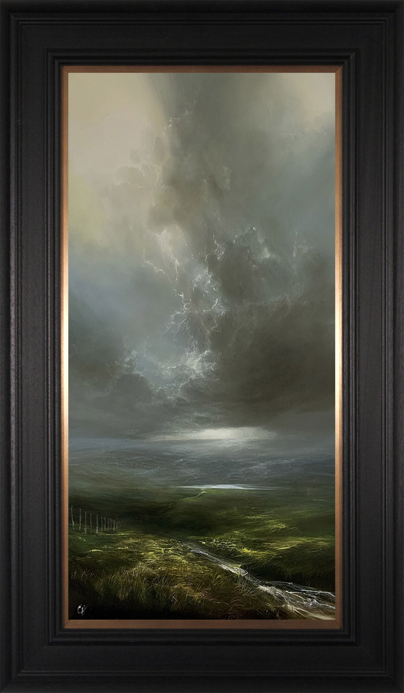 Clare Haley, Original oil painting on panel, Something in the Air, click to enlarge