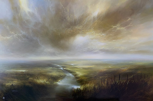 Clare Haley, Original oil painting on panel, In the Light of the Morning Sun