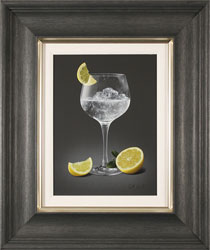Colin Wilson, Original acrylic painting on board, Gin and Tonic with Lemon