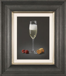 Colin Wilson, Original acrylic painting on board, Champagne and Raspberries Large image. Click to enlarge