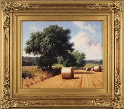 Daniel Van Der Putten, Original oil painting on panel, A Quiet Summer's Day, Litchborough
