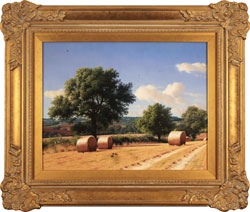 Daniel Van Der Putten, Original oil painting on panel, Fields of South Hiendley, Yorkshire