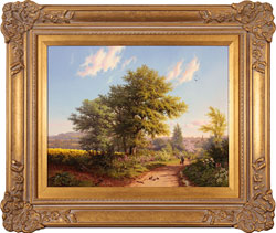 Daniel Van Der Putten, Road to Daventry in Spring, Original oil painting on panel