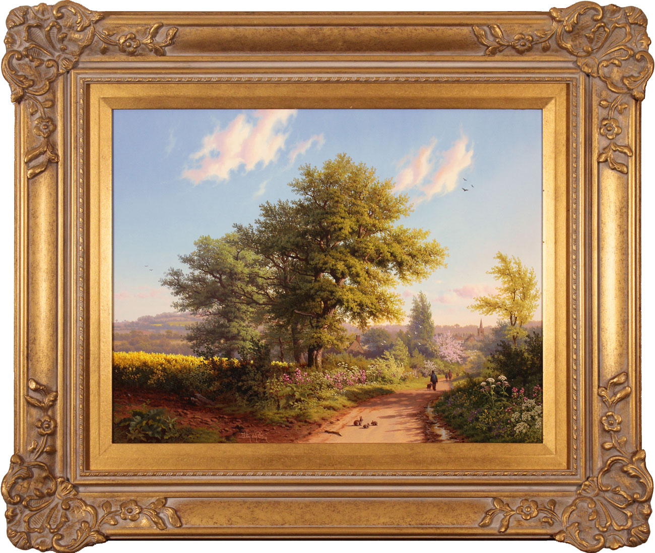 Daniel Van Der Putten, Original oil painting on panel, Road to Daventry in Spring. Click to enlarge