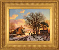 Daniel Van Der Putten, Original oil painting on panel, Entrance to Levisham, Yorkshire Large image. Click to enlarge