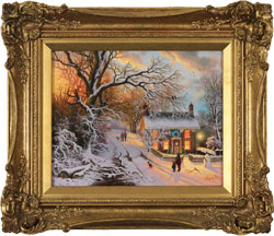 Daniel Van Der Putten, Original oil painting on panel, End of December, Lockton, North Yorkshire Large image. Click to enlarge