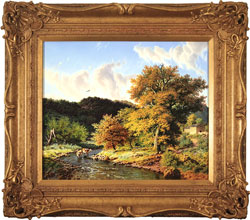 Daniel Van Der Putten, Original oil painting on panel, Autumn, Crackpot, Swaledale, North Yorkshire Large image. Click to enlarge