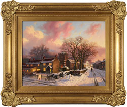 Daniel Van Der Putten, Original oil painting on panel, Evening at Lockton, North Yorkshire