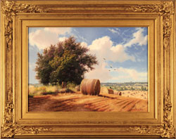 Daniel Van Der Putten, Original oil painting on panel, Summer on Weedon Hill
