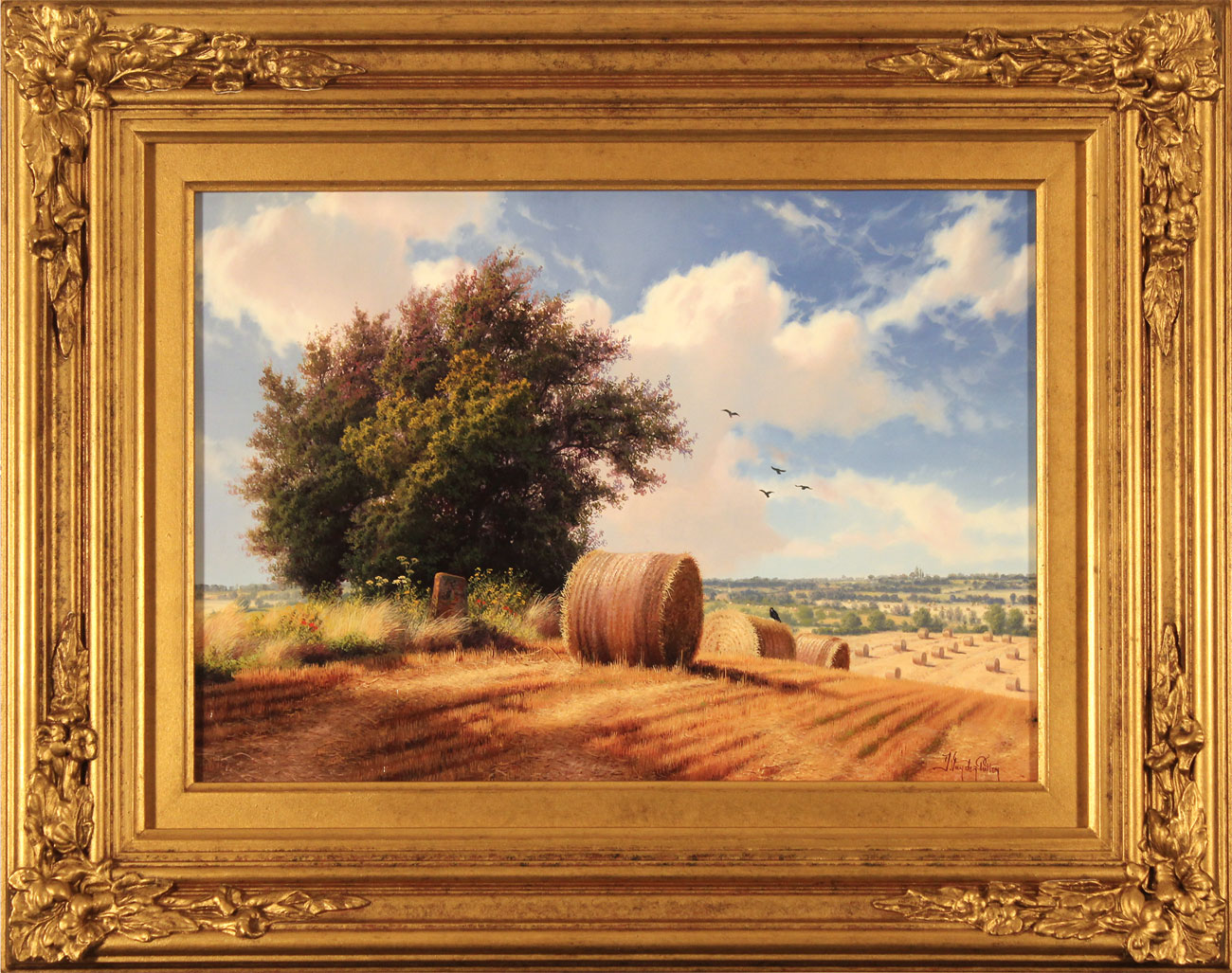 Daniel Van Der Putten, Original oil painting on panel, Summer on Weedon Hill. Click to enlarge