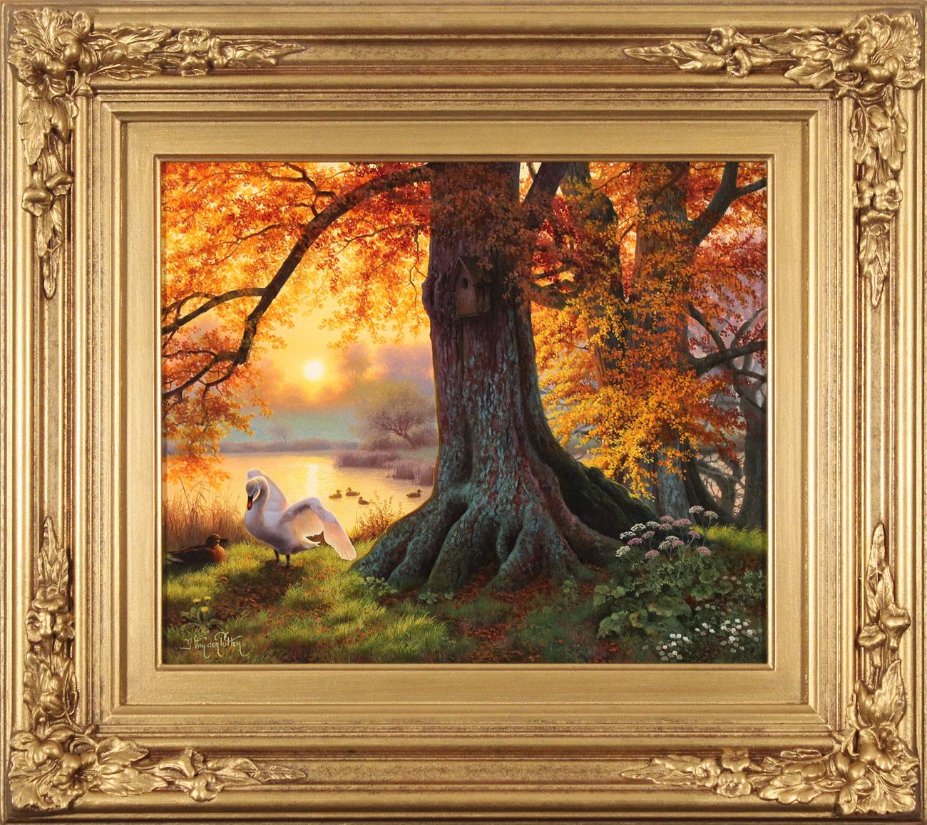 Daniel Van Der Putten, Original oil painting on panel, Autumn Evening Light, Silsden, Keighley, Yorkshire. Click to enlarge