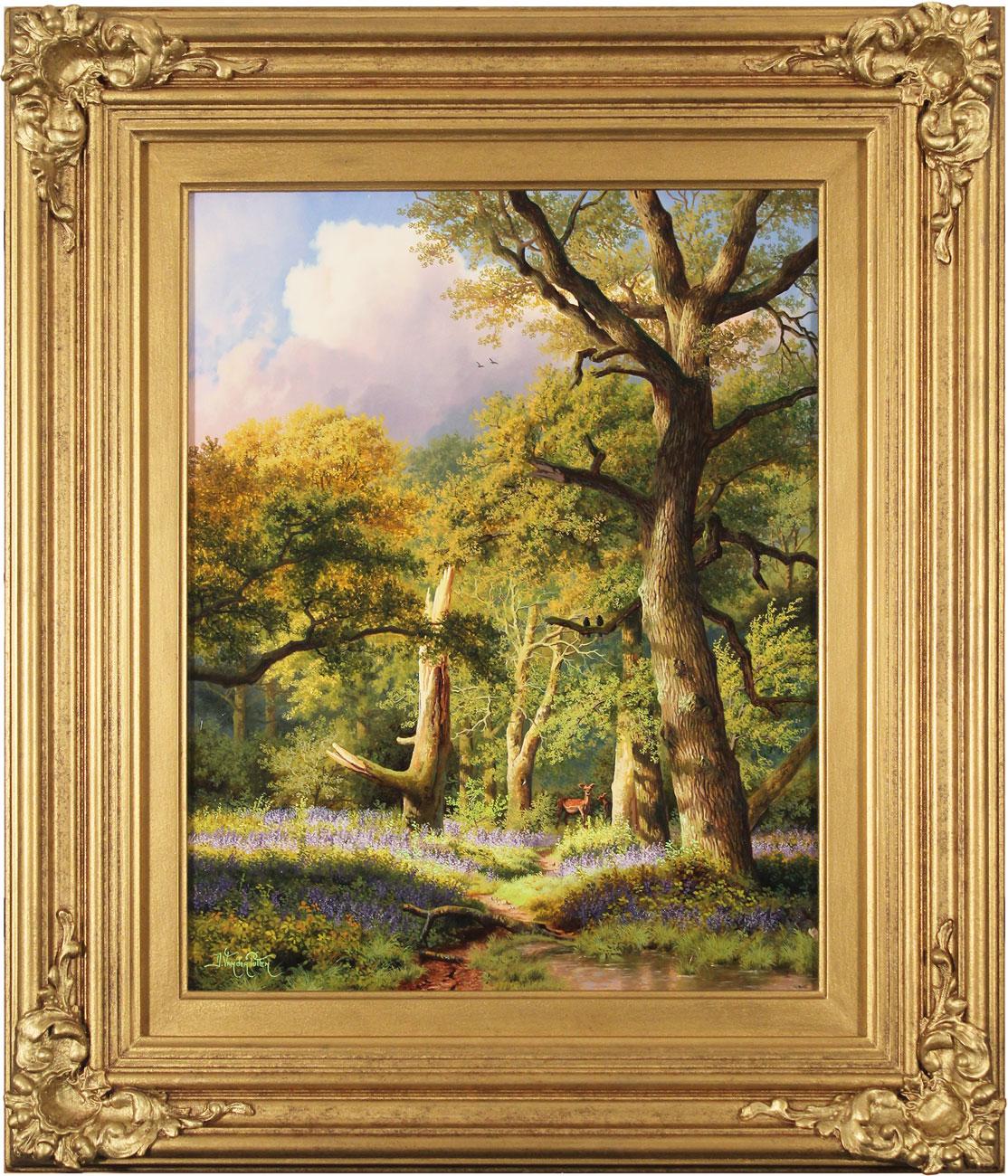 Daniel Van Der Putten, Original oil painting on panel, May in Beverley Woods, Yorkshire, click to enlarge