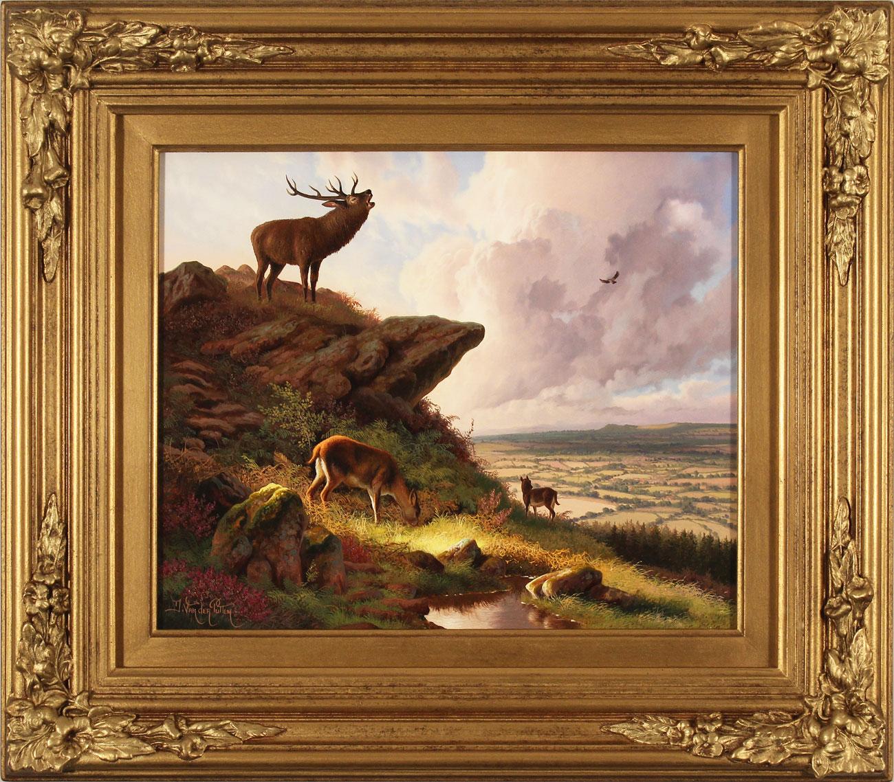 Daniel Van Der Putten, Original oil painting on panel, Cleveland Way, National Trail, Yorkshire, click to enlarge