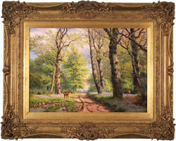 Daniel Van Der Putten, Original oil painting on panel, Middleton Woods, Ilkley, Yorkshire