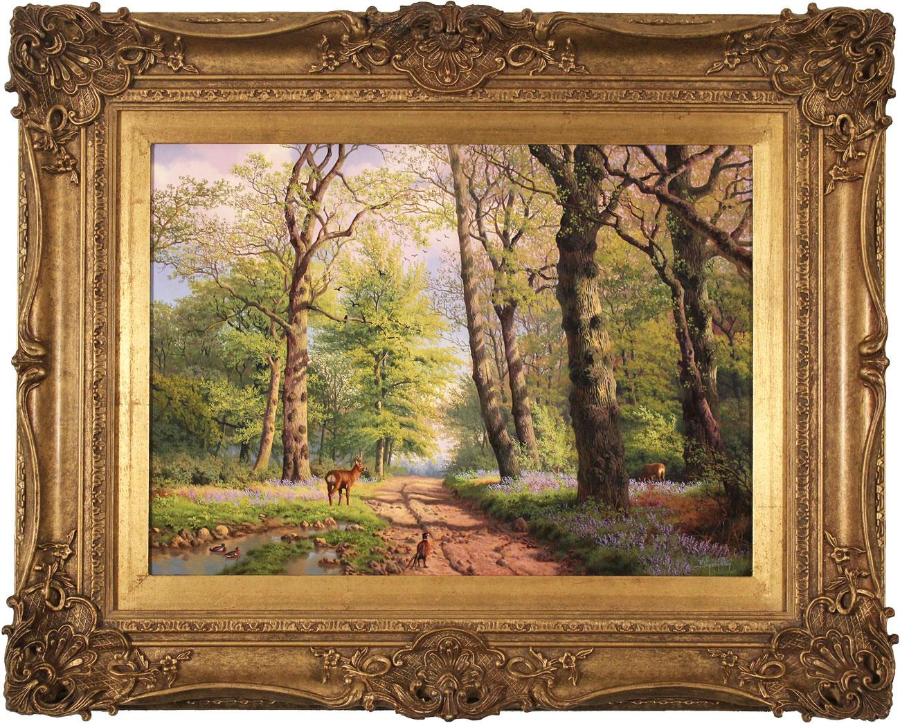 Daniel Van Der Putten, Original oil painting on panel, Middleton Woods, Ilkley, Yorkshire , click to enlarge