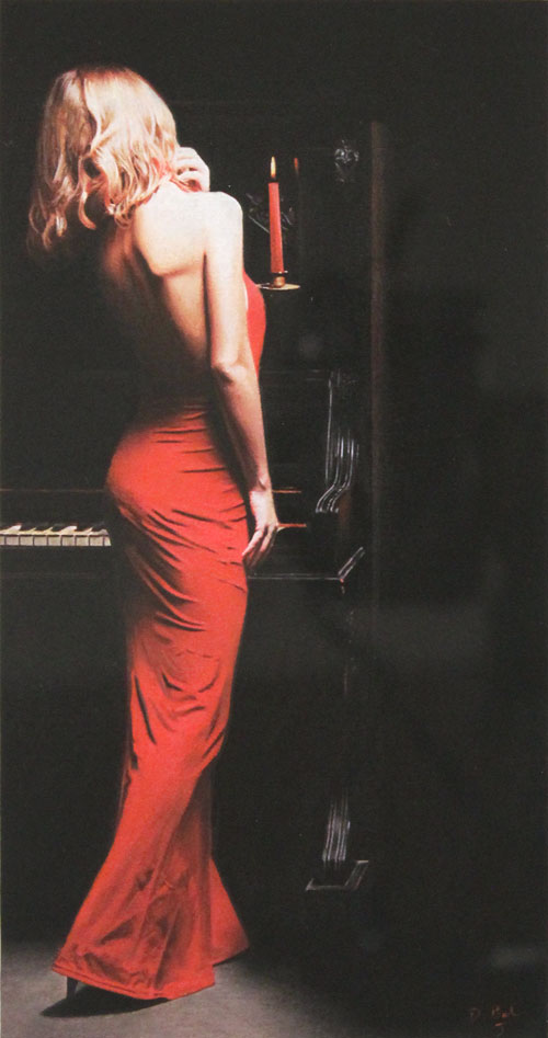 Darren Baker, Pastel, Lady in Red