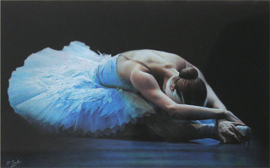 Darren Baker, Pastel, Odette Without frame image. Click to enlarge