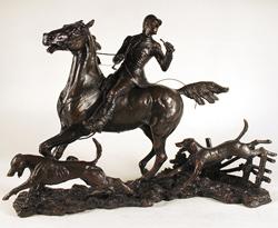 David Geenty, Bronze, Doubling the Horn Large image. Click to enlarge