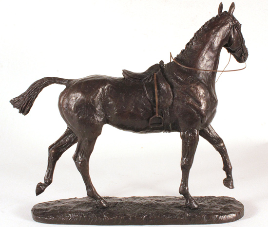 David Geenty, Bronze, Hunter Without frame image. Click to enlarge