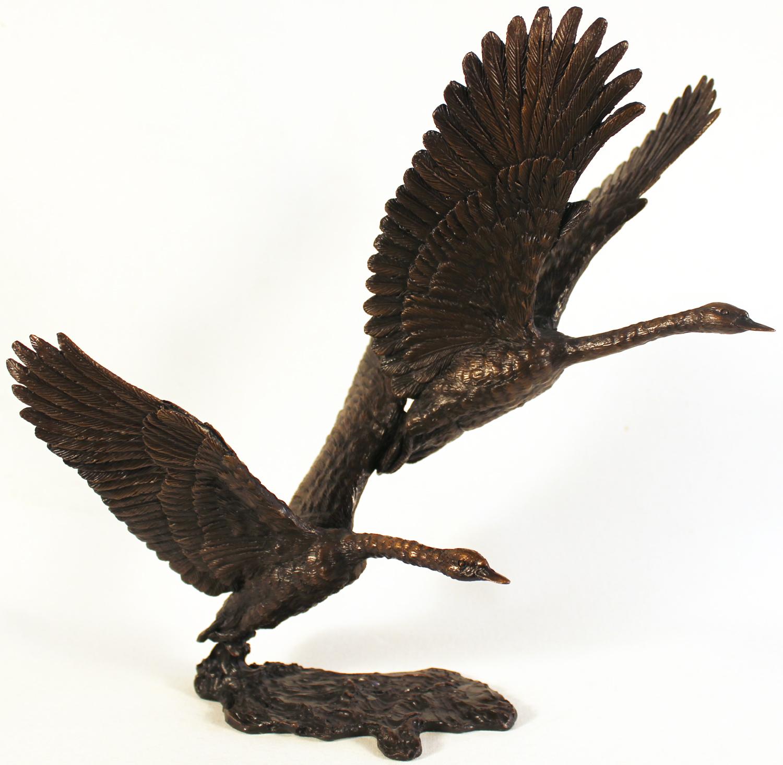 David Ivey, Bronze, White Flight, click to enlarge