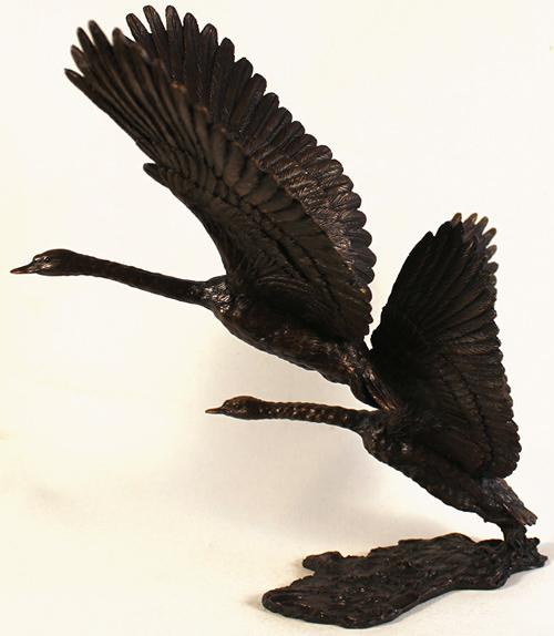David Ivey, Bronze, White Flight No frame image. Click to enlarge
