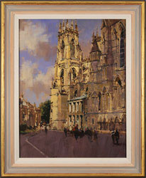David Sawyer, RBA, Original oil painting on panel, York Minster, View from the Southeast