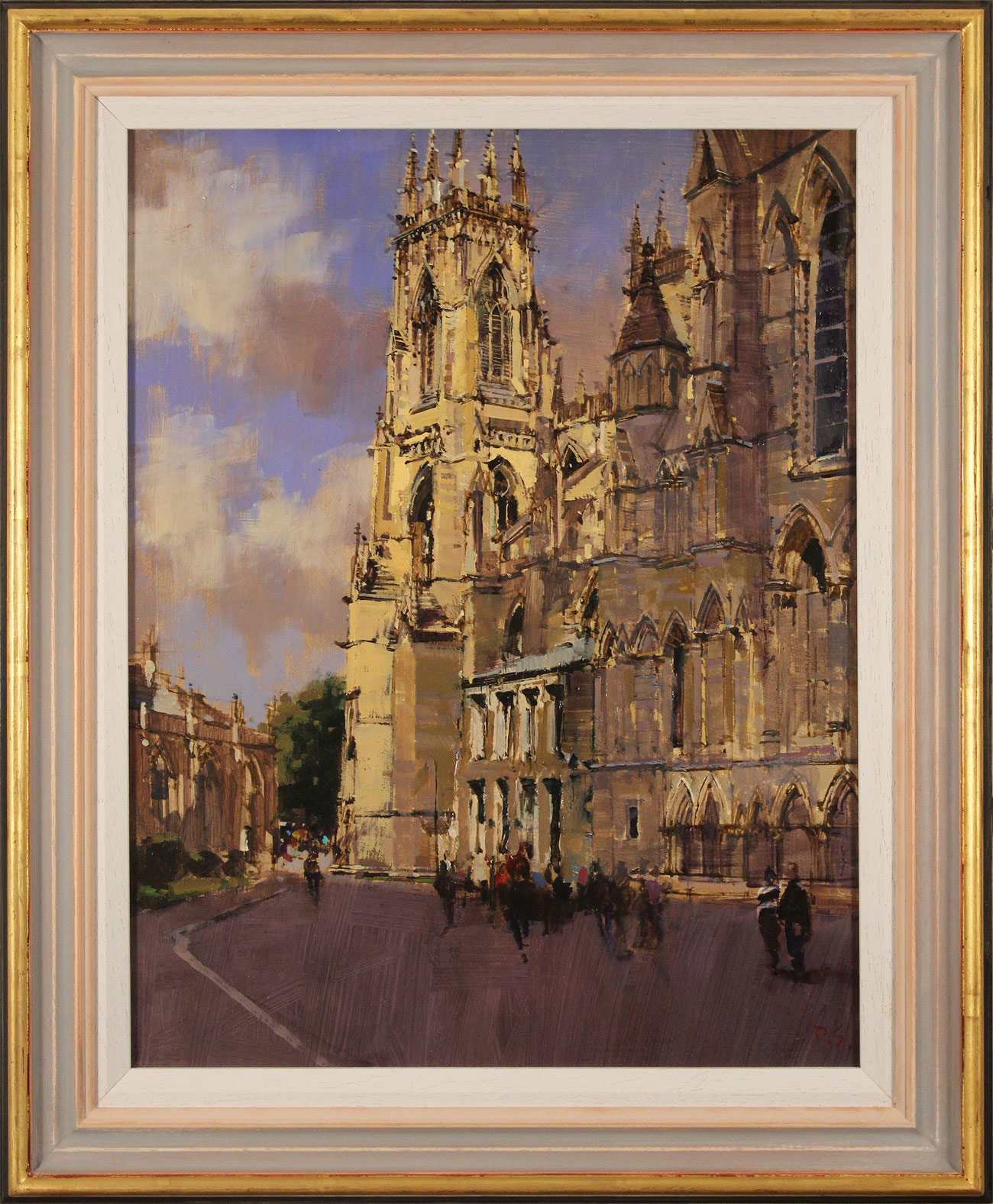 David Sawyer, RBA, Original oil painting on panel, York Minster, View from the Southeast, click to enlarge