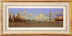 David Sawyer, RBA, Original oil painting on panel, Westminster, View from Lambeth Bridge Large image. Click to enlarge