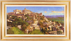 David Sawyer, RBA, Original oil painting on panel, Village Perche, Gordes, Provence