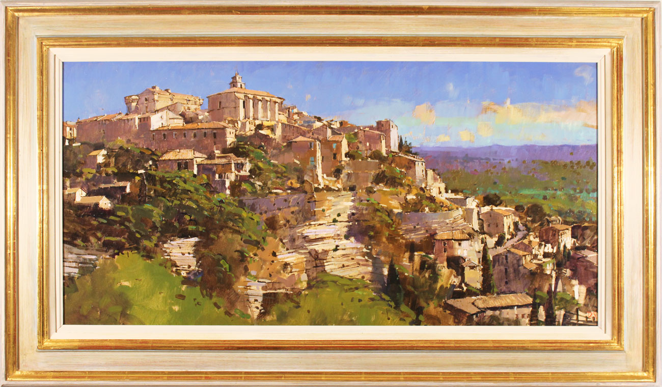 David Sawyer, RBA, Original oil painting on panel, Village Perche, Gordes, Provence. Click to enlarge