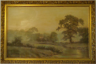 David Dipnall, Oil on canvas, Country Scene