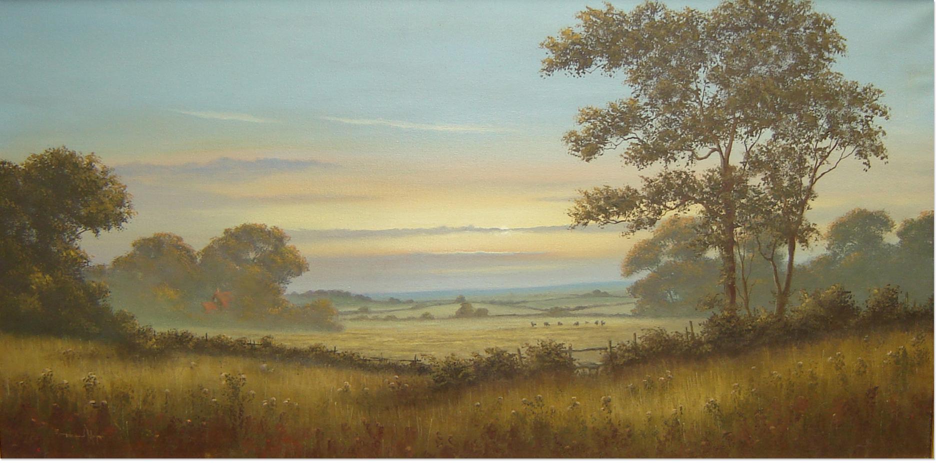 David Morgan, Oil on canvas, Landscape, click to enlarge
