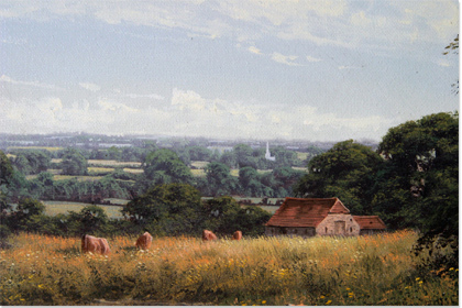 David Morgan, Oil on canvas, Landscape Without frame image. Click to enlarge